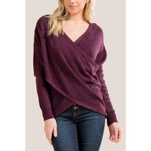 Francescas Alya Long Sleeve Dana Wrap Sweater